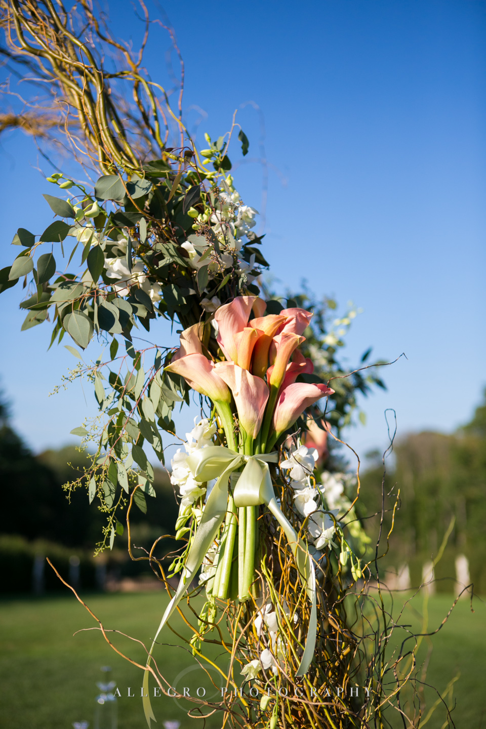 fall wedding arch boston - photographed by Allegro Photography