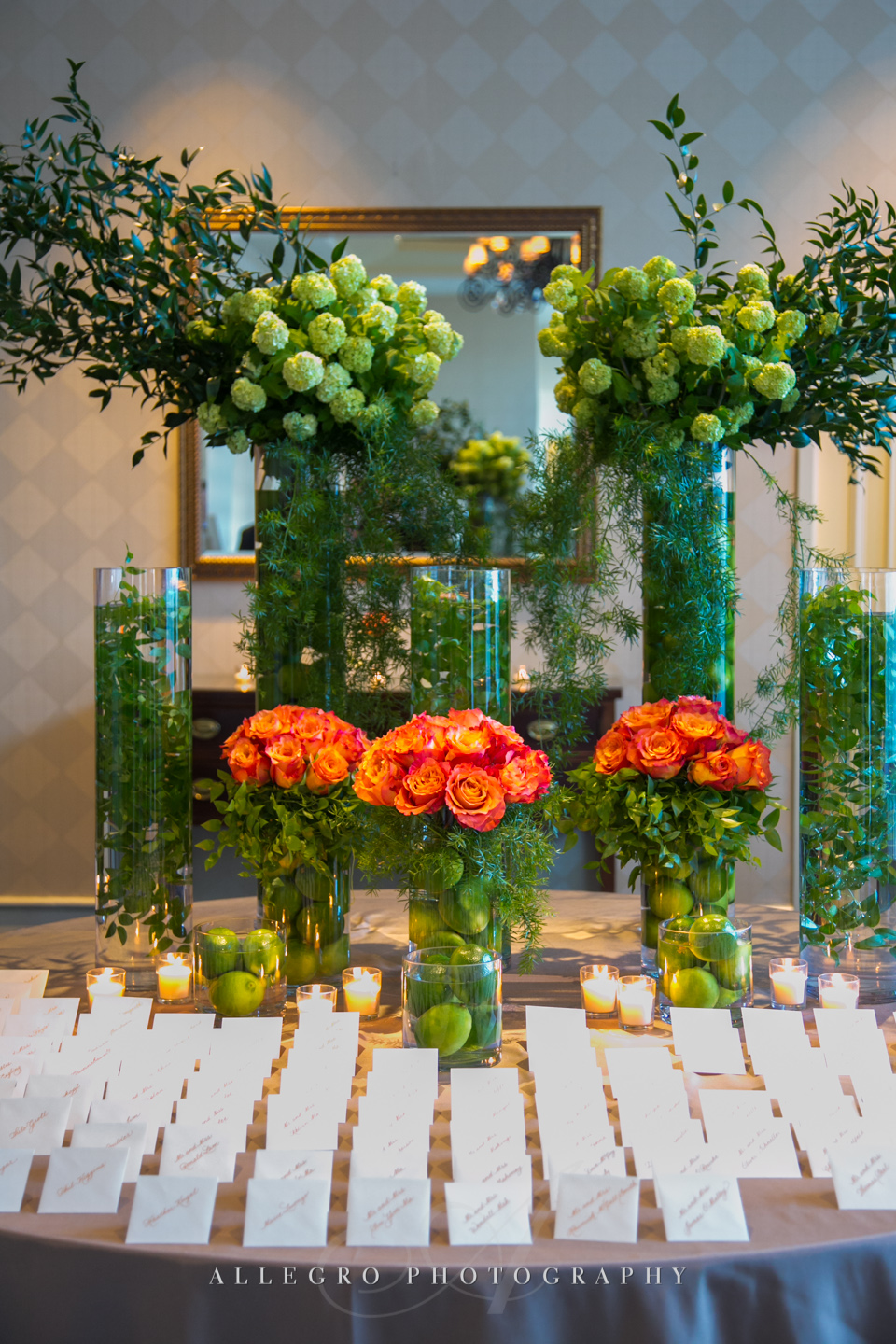 fall wedding flowers and decor boston - photographed by Allegro Photography