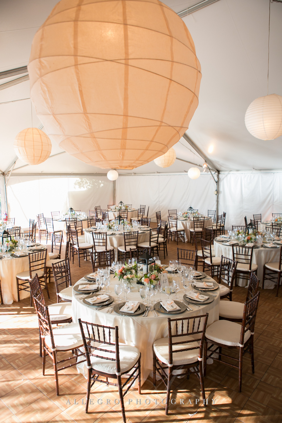 fall wedding tent decor boston - photographed by Allegro Photography