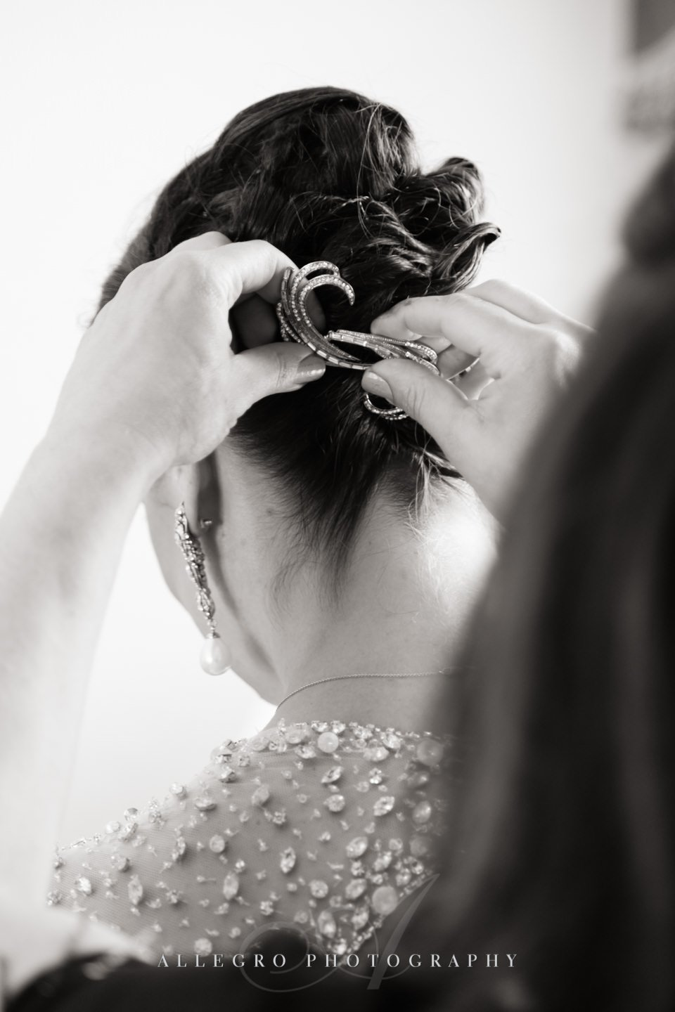 bridal hair- photo by allegro photography