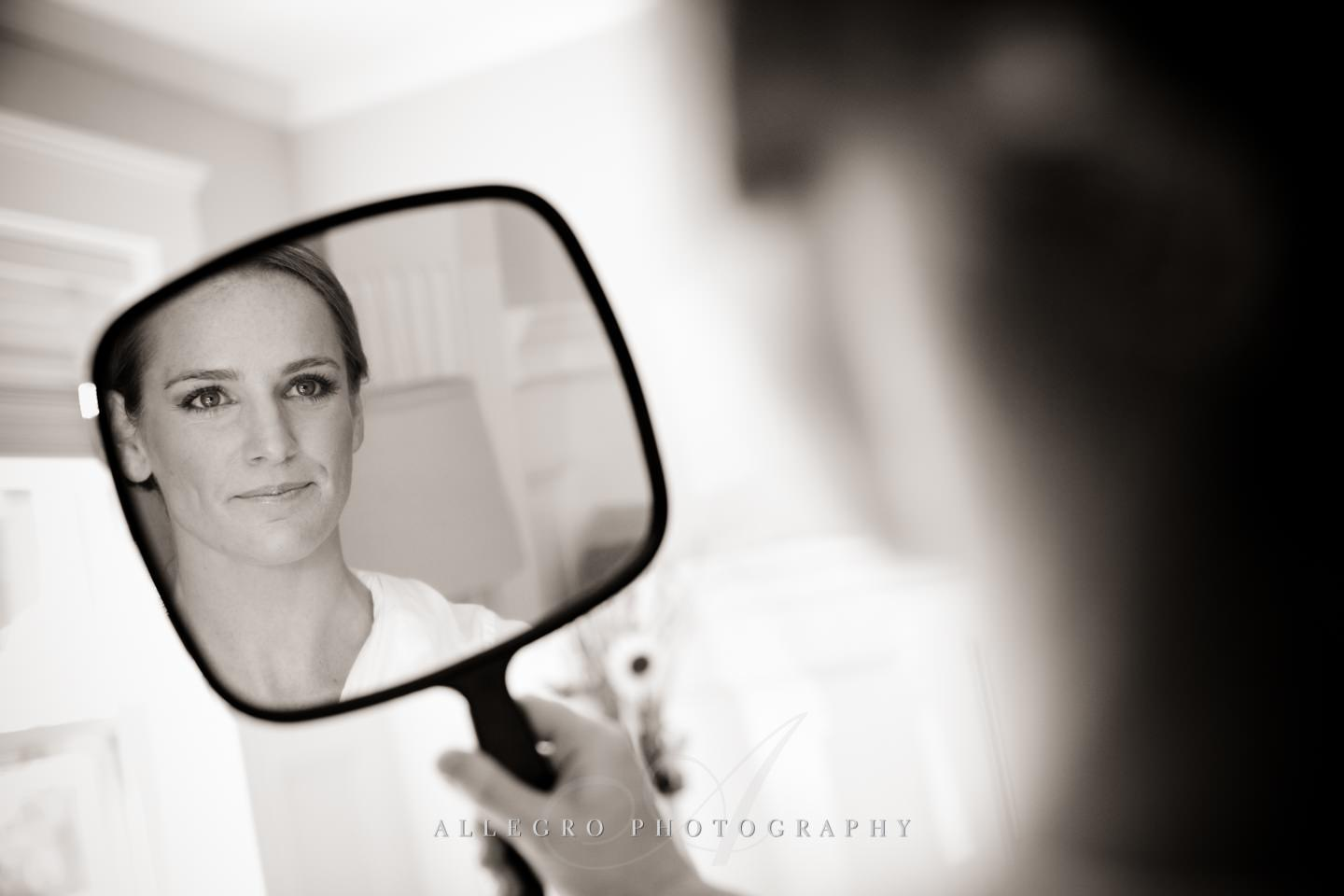 one last look for the bride- charlestown ma - photo by Allegro Photography