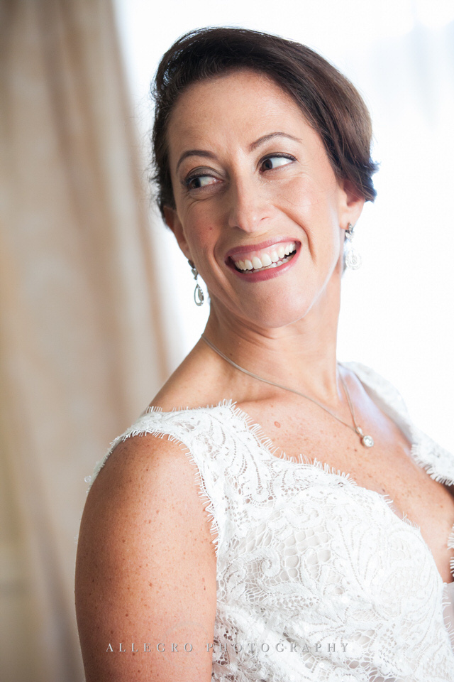 bride so happy -photo by Allegro Photography