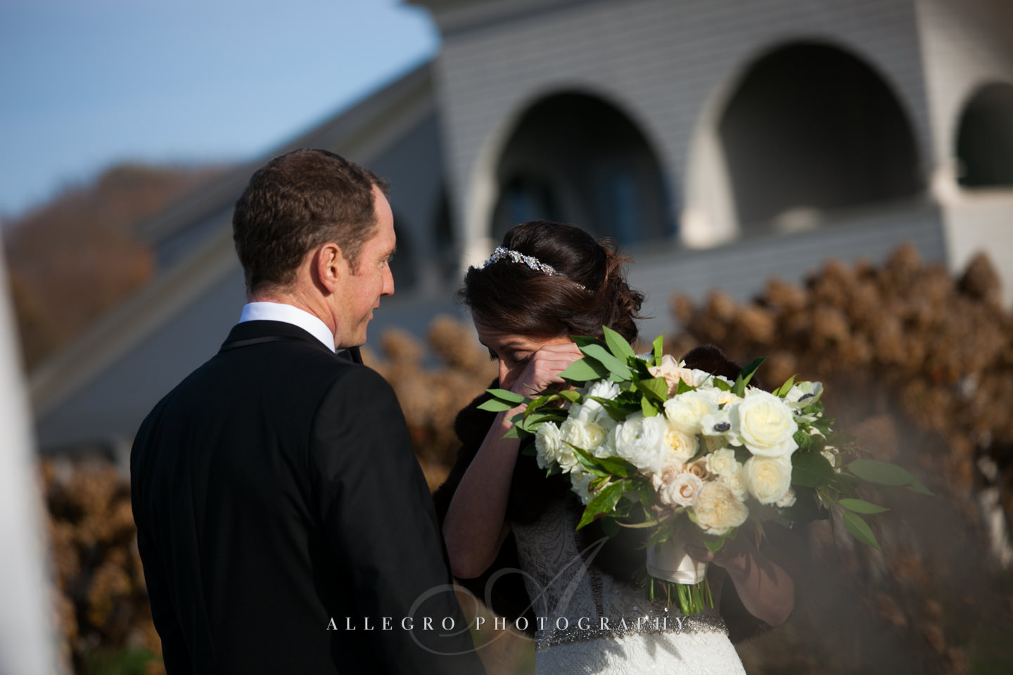 first look tears from bride -photo by Allegro Photography