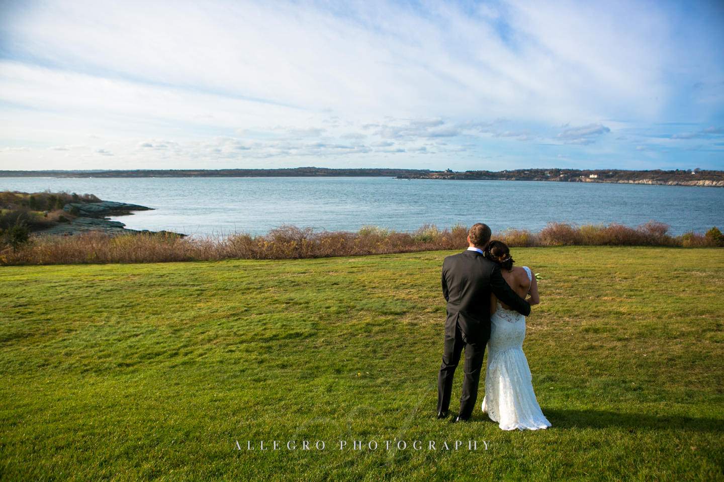 enjoying the ocean view at oceancliff newport experience -photo by Allegro Photography
