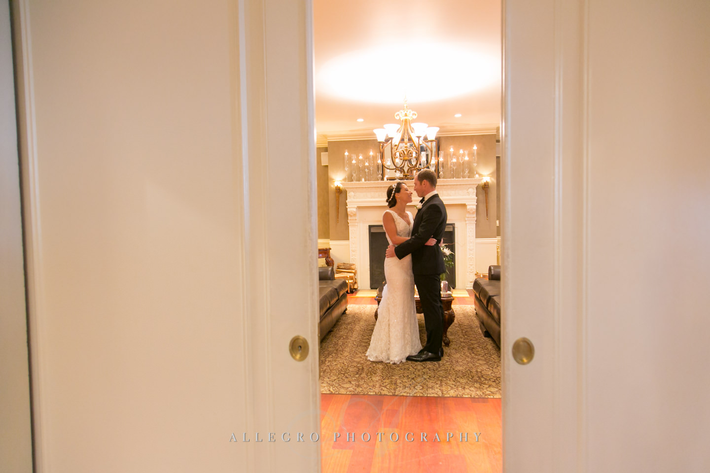 a quiet moment before the ketubah signing -photo by Allegro Photography