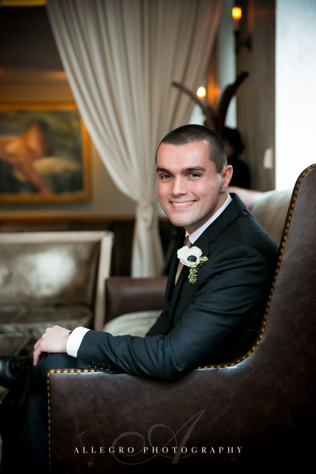highball lounge groom portrait -photo by Allegro Photography