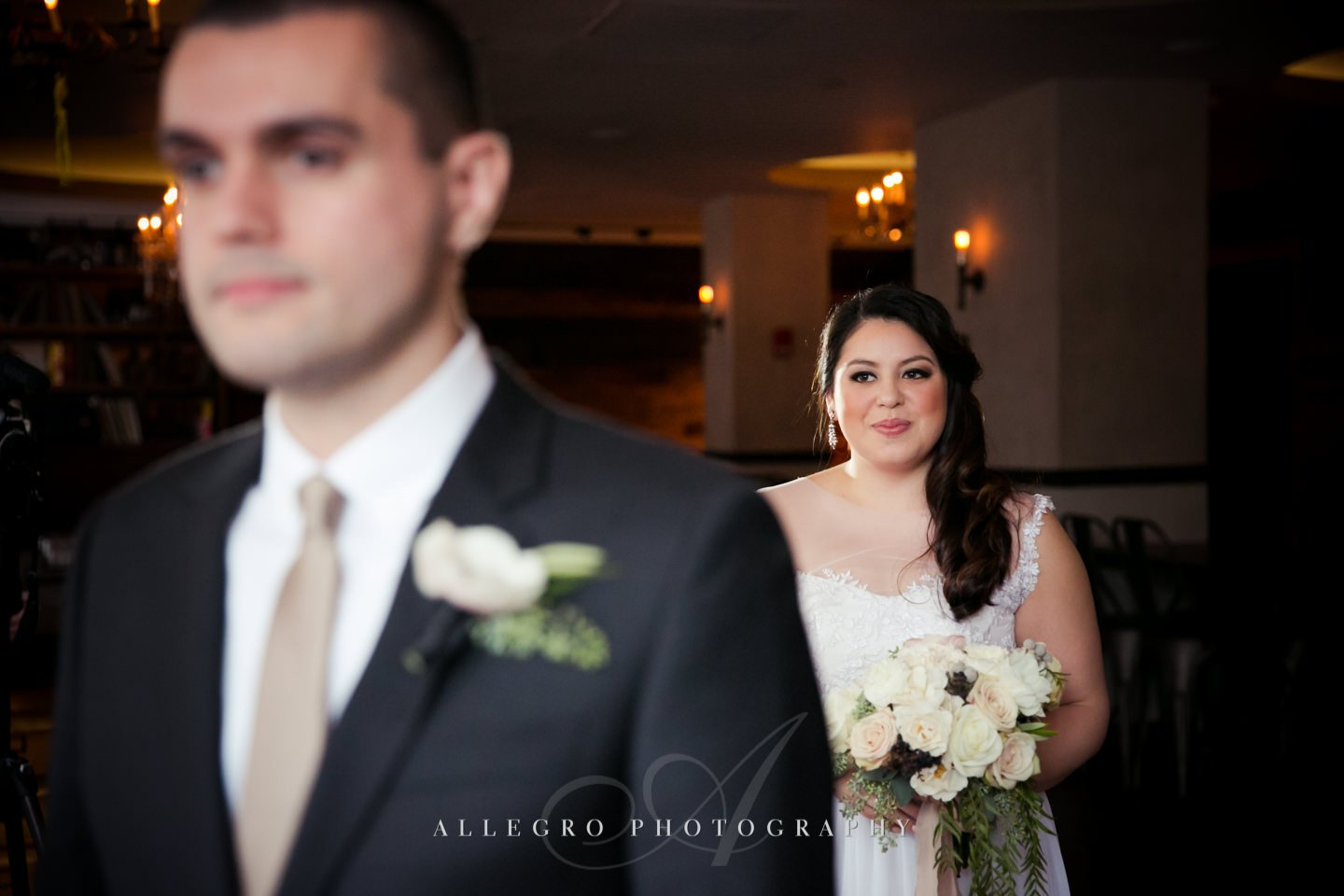 first look -photo by Allegro Photography