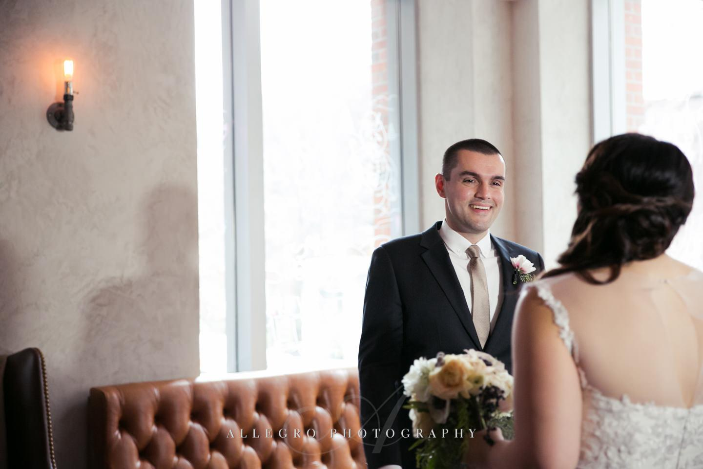 he sees her for the first time -photo by Allegro Photography