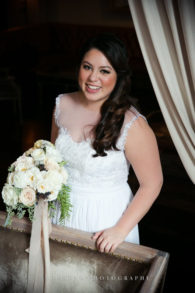 bridal portrait, bouquet by orly khon floral design -photo by Allegro Photography