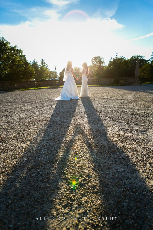 two brides portraits - photo by Allegro Photography