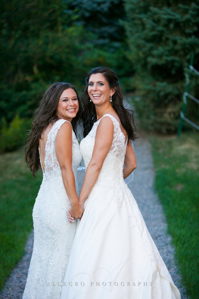 two brides married - love is love - photo by Allegro Photography