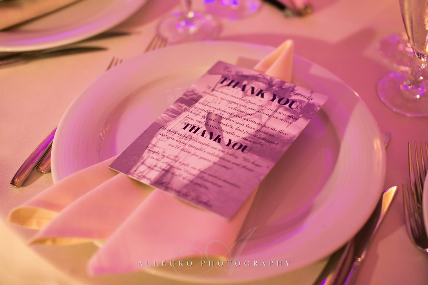 dinner place setting ballroom