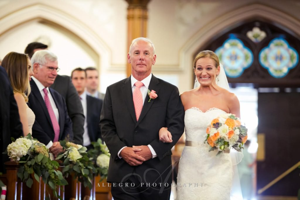 bride sees groom at st mary st catherine church - photo by allegro photography