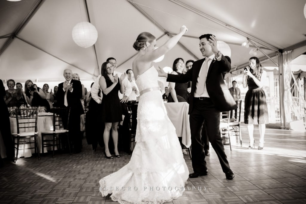 dance in tent - photo by allegro photography