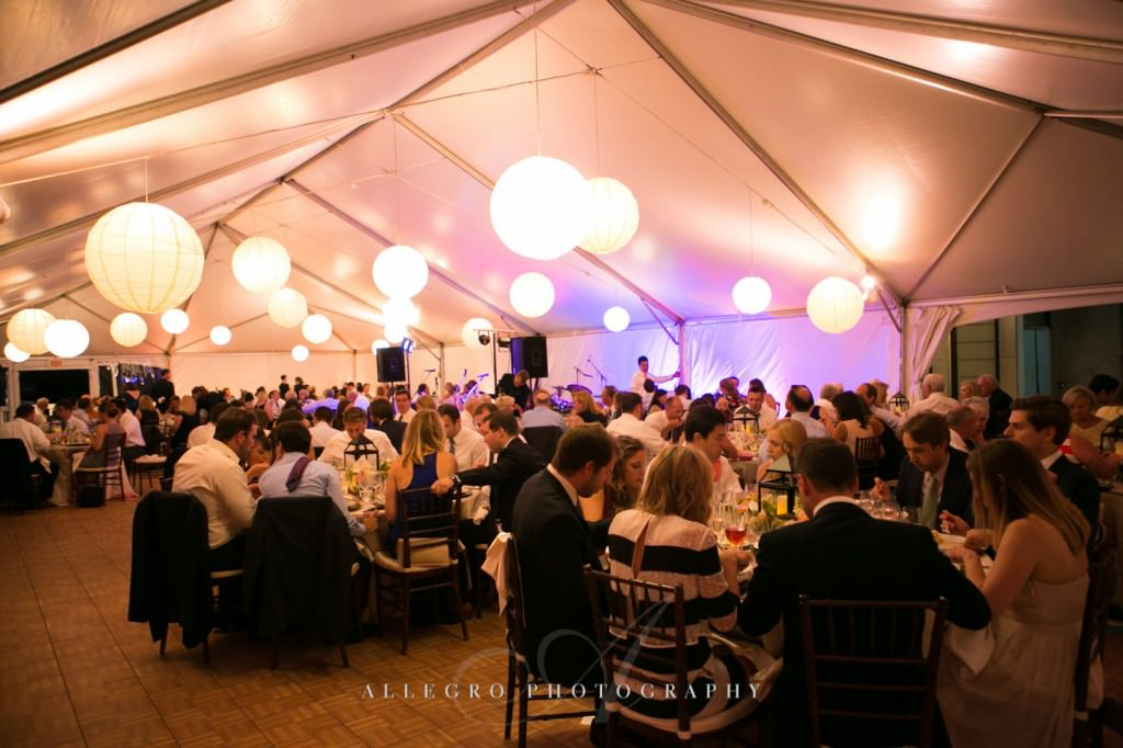 tent reception - photo by allegro photography