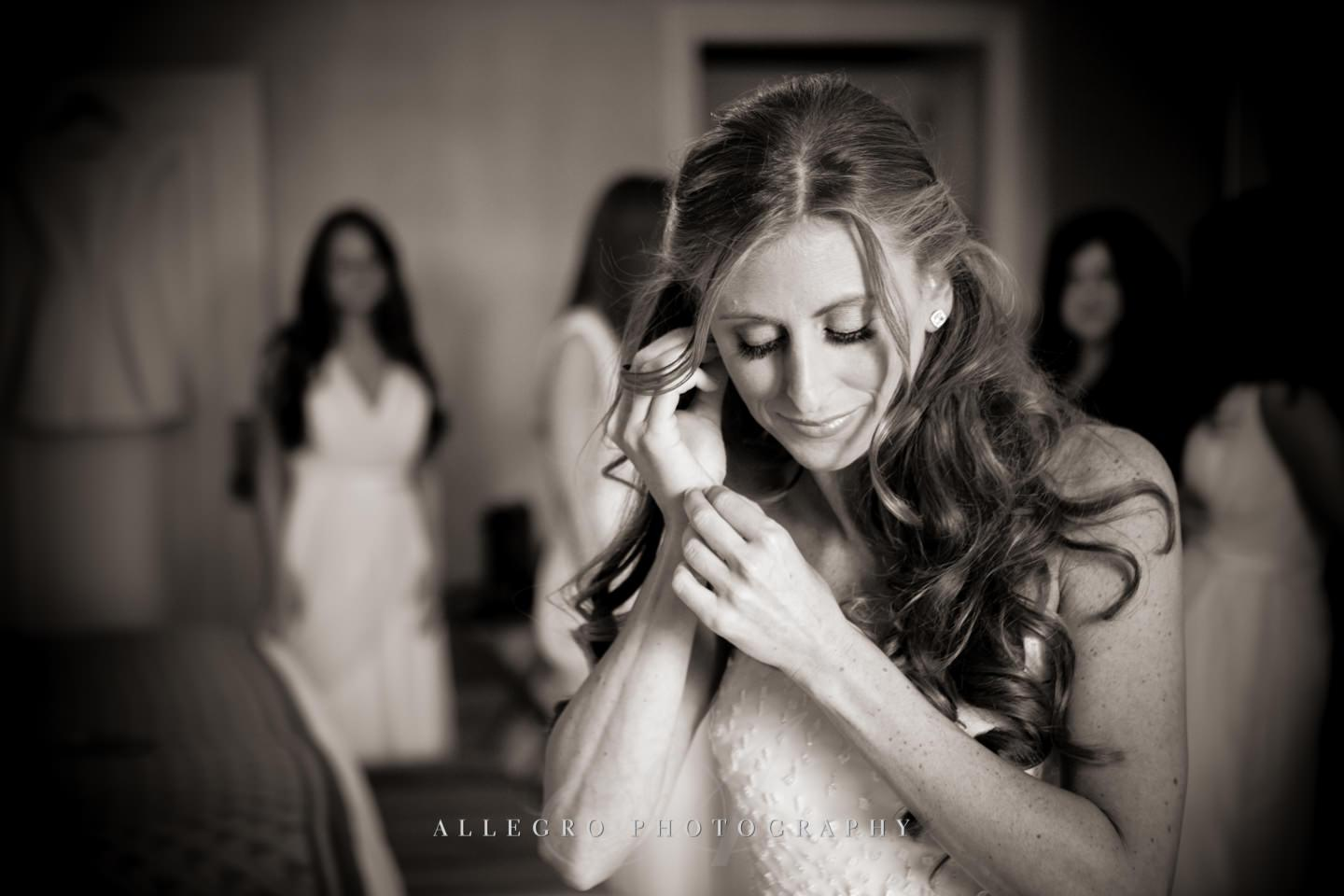 bride getting ready- photo by Allegro Photography