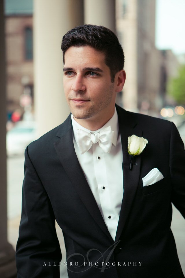groom portrait - photo by Allegro Photography