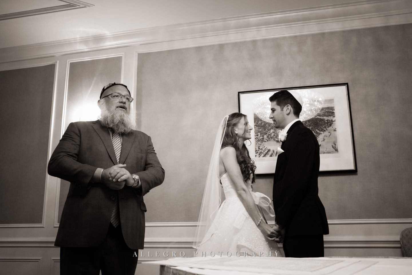ketubah ceremony - fairmont boston- - photo by allegro photography