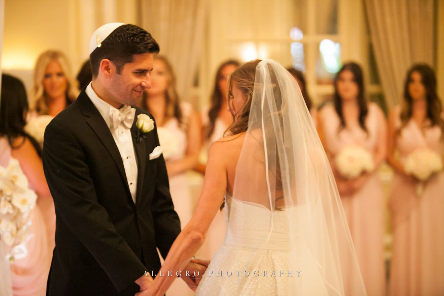 circling each other- boston jewish wedding - photo by allegro photography