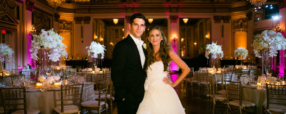 in their beautiful grand ballroom - fairmont copley plaza- - photo by allegro photography