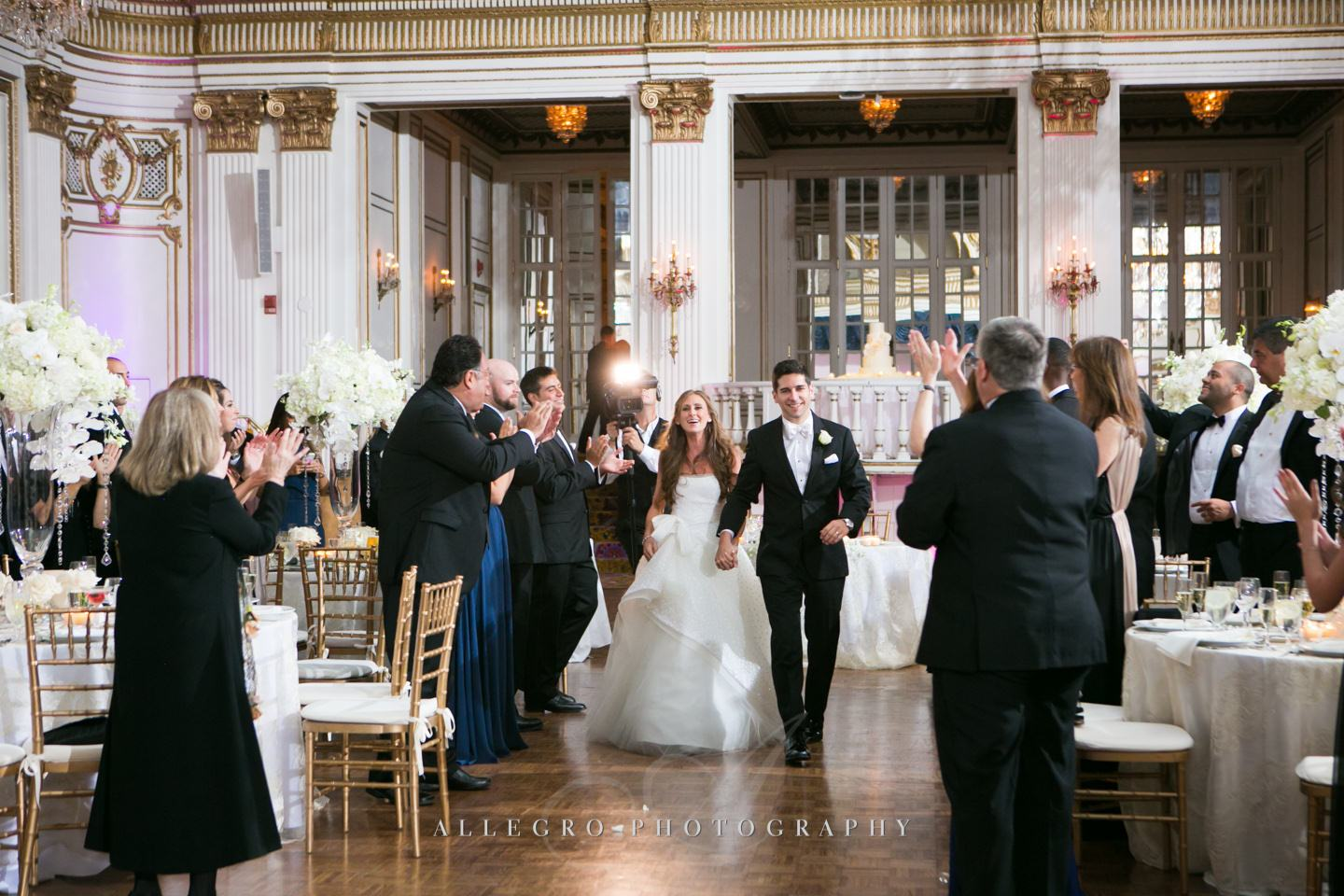 grand entrance- ballroom at fairmont copley plaza- photo by allegro photography