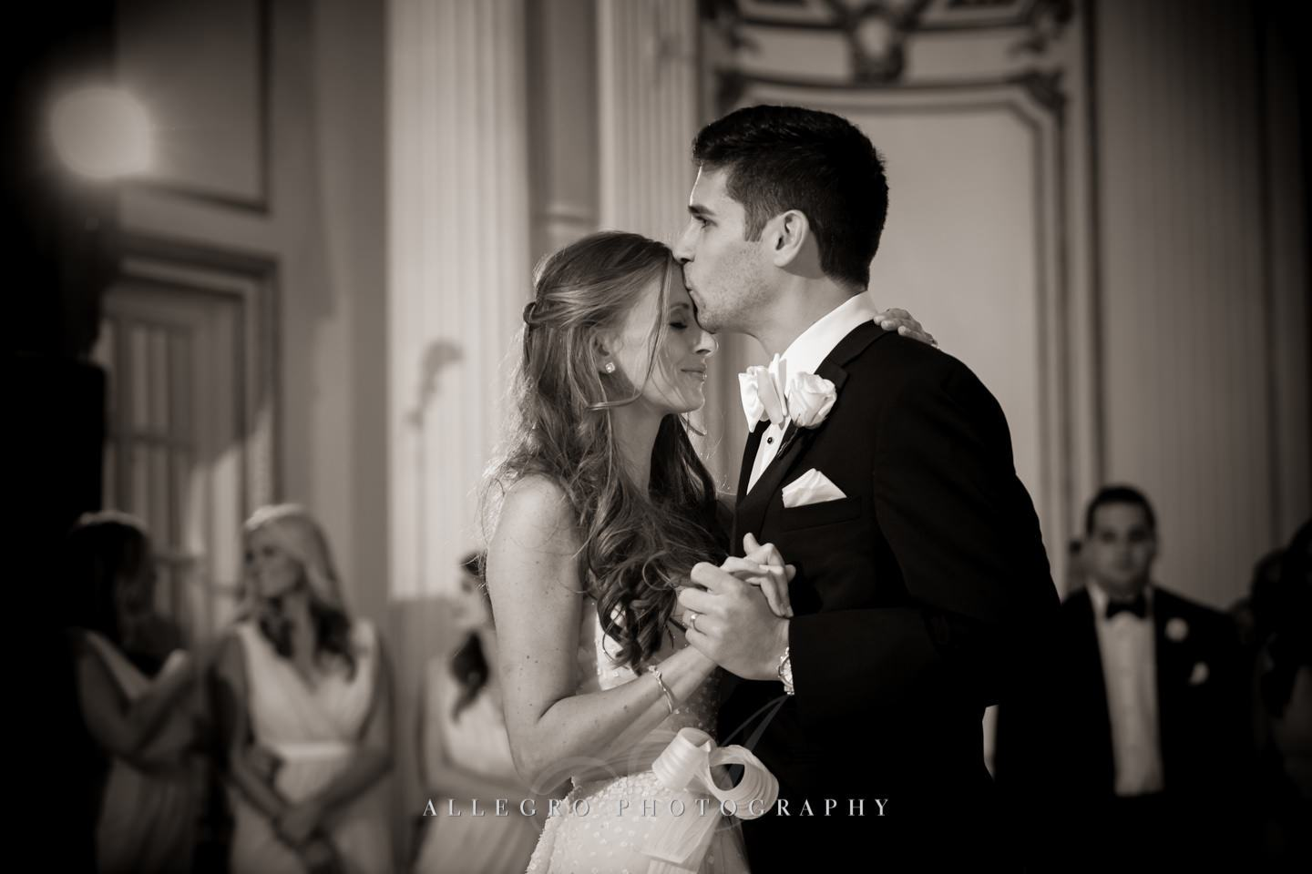 fairmont copley plaza first dance - photo by allegro photography