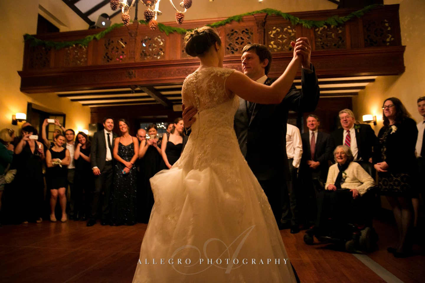 first dance - photo by allegro photography