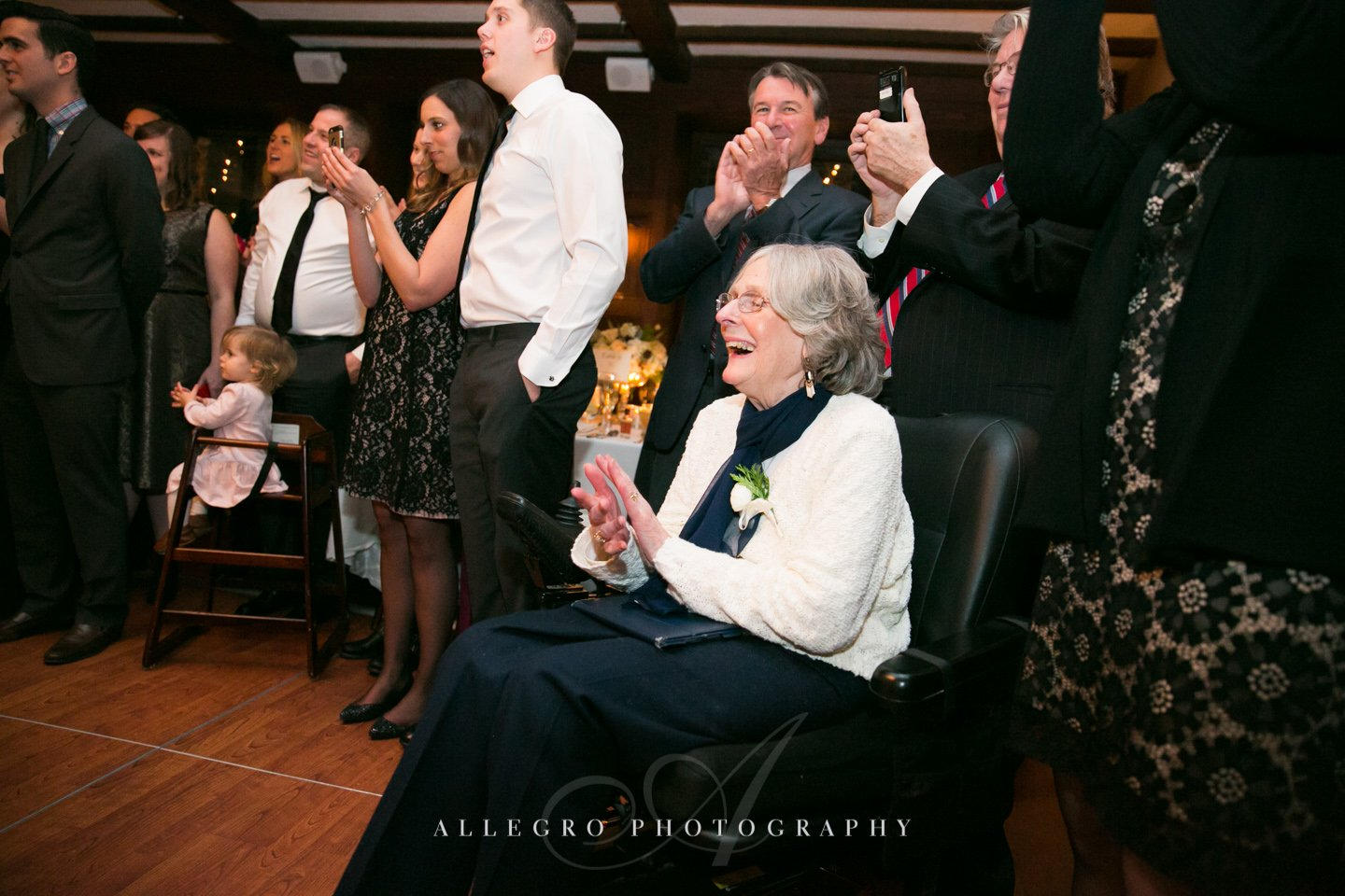 grandmother at wedding- photo by allegro photography