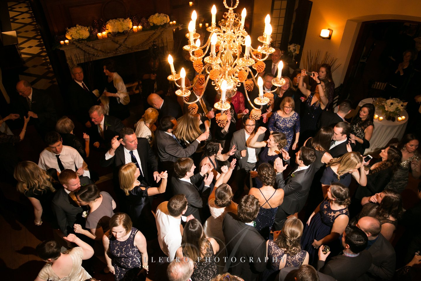 wedding dance floor at willowdale estate- photo by allegro photography