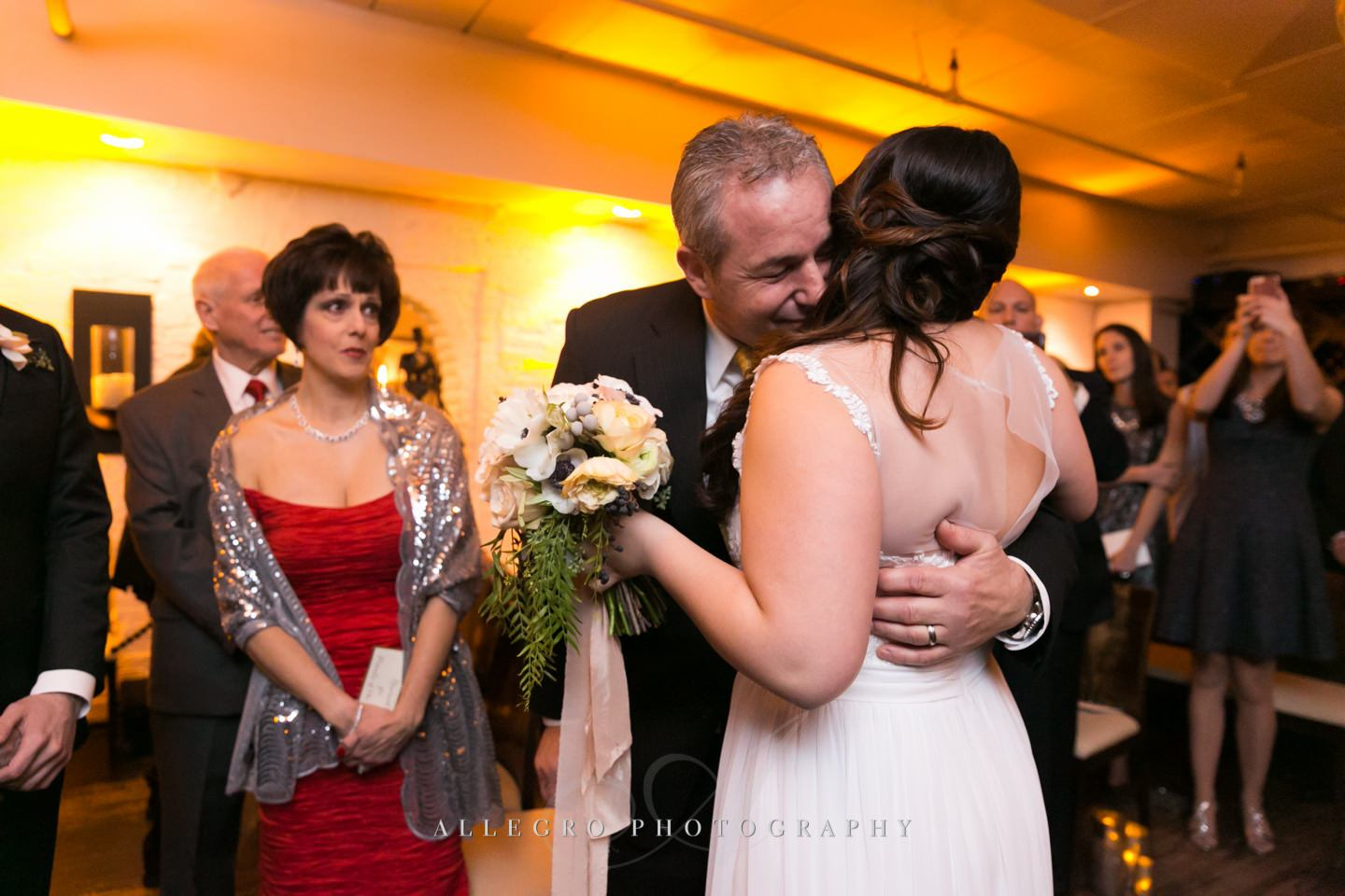 dad hug - photo by Allegro Photography