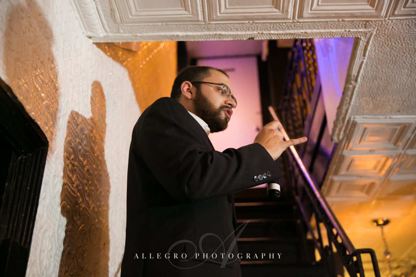 toast on the steps - photo by Allegro Photography