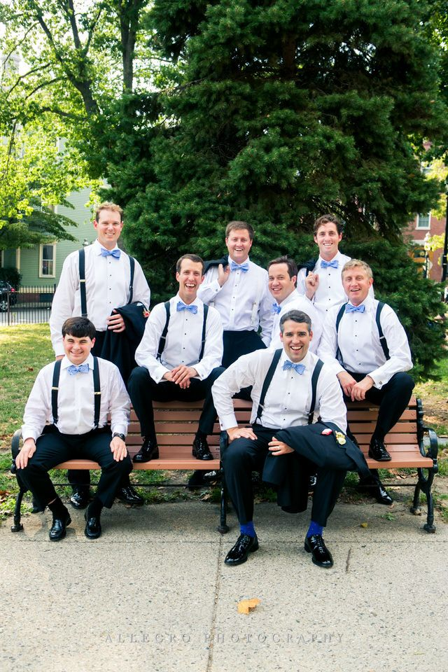 the groomsmen in Charlestown - photo by Allegro Photography