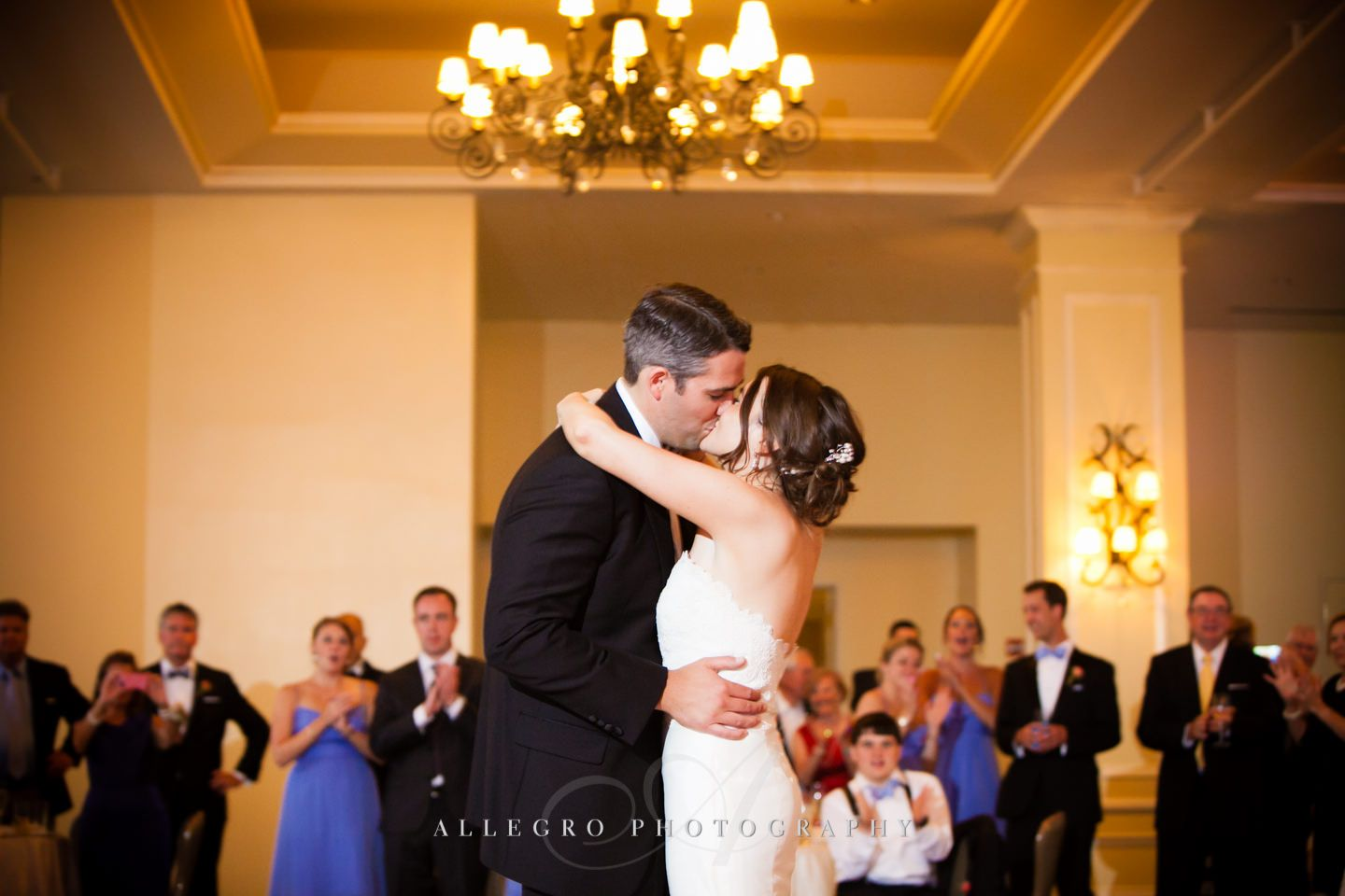 first dance kiss photo by Allegro Photography
