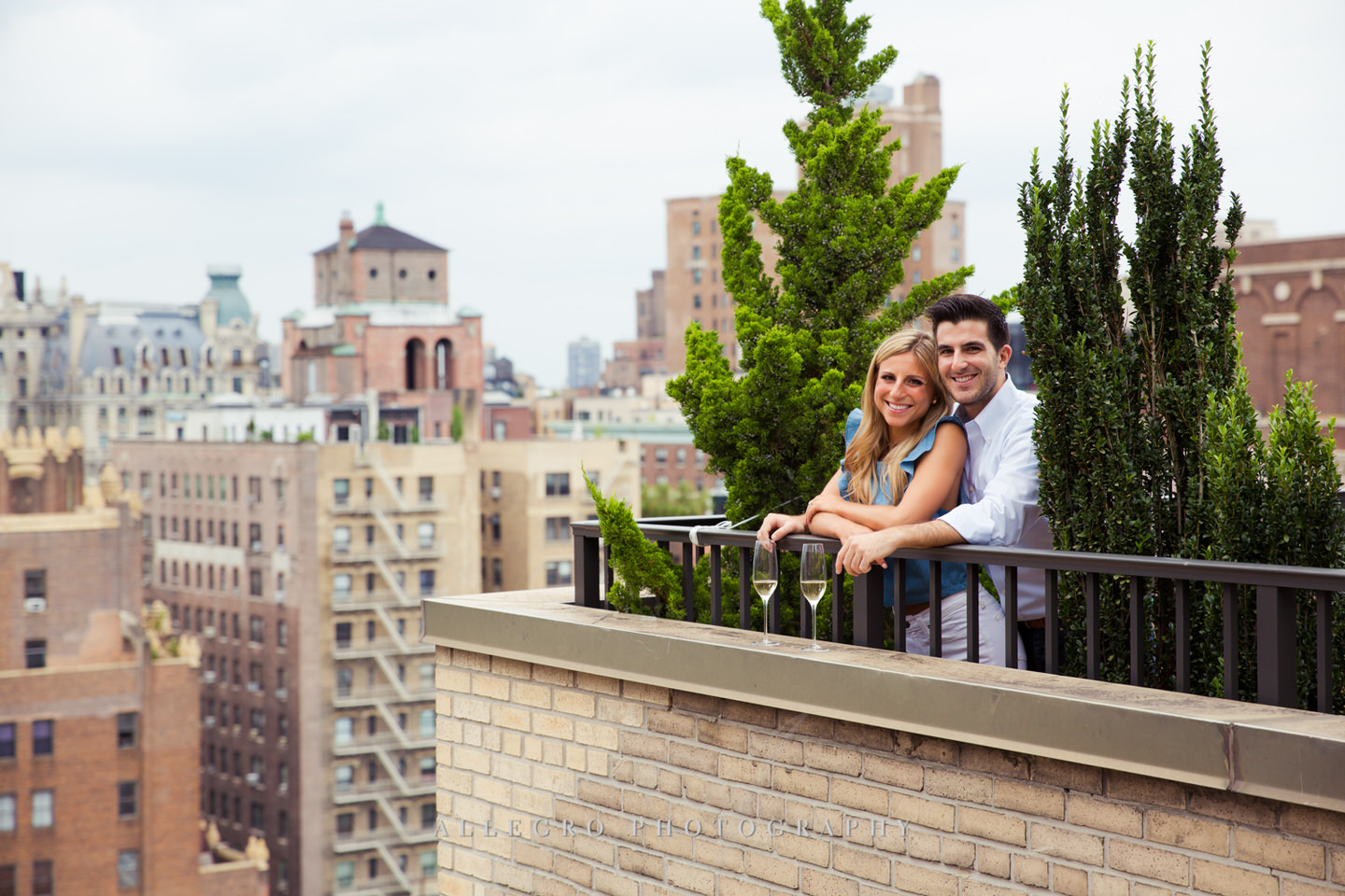 roof top manhattan e-session photo by Allegro Photography