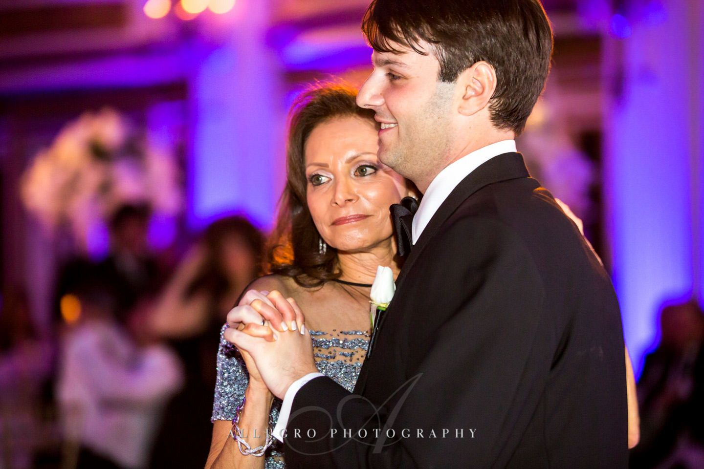 mother son dance - fairmont copley plaza wedding photo by Allegro Photography