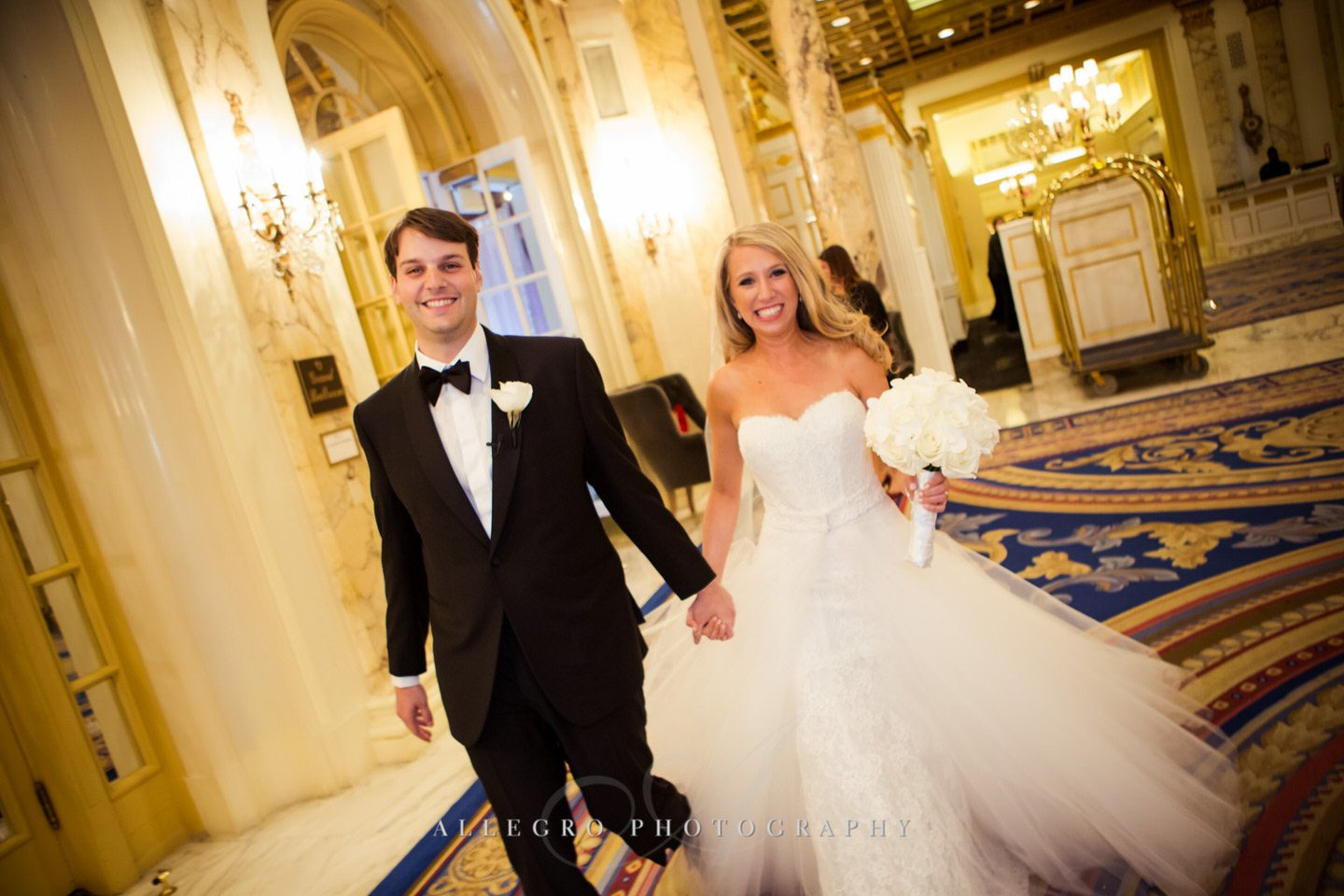 just married fairmont copley plaza wedding photo by Allegro Photography