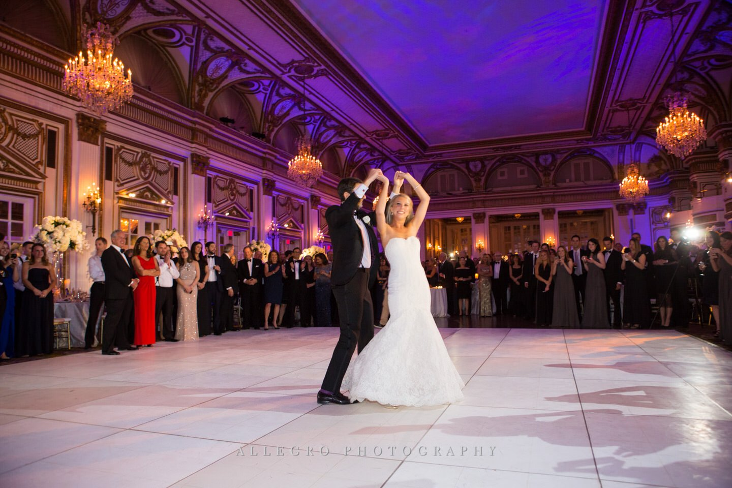 fairmont copley plaza wedding photo by Allegro Photography