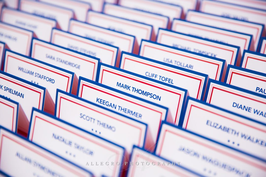 jfk library wedding - red white blue- nautical - photo by Allegro Photography