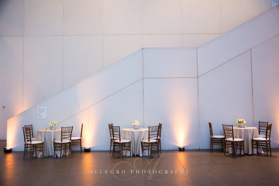jfk library wedding - white and gold elegance - photo by Allegro Photography