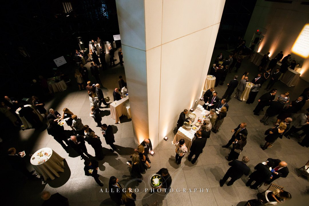 jfk library wedding - photo by Allegro Photography - cocktail hour by gourmet caterers