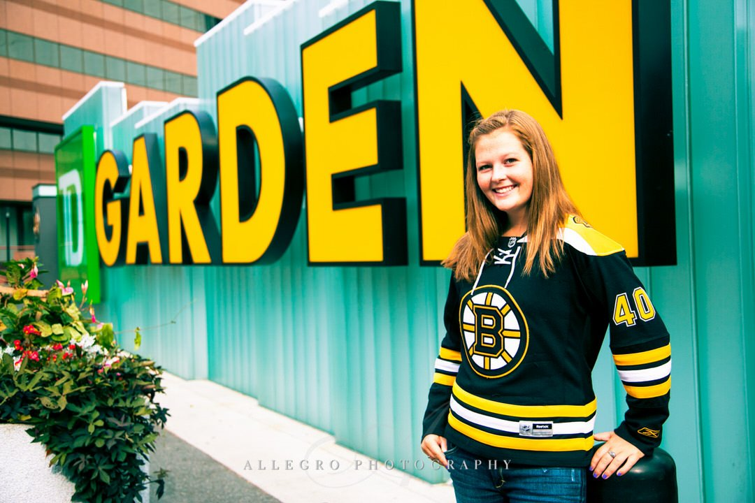 TD Garden Senior Photo by Wellesley Senior Photographer Allegro Photography