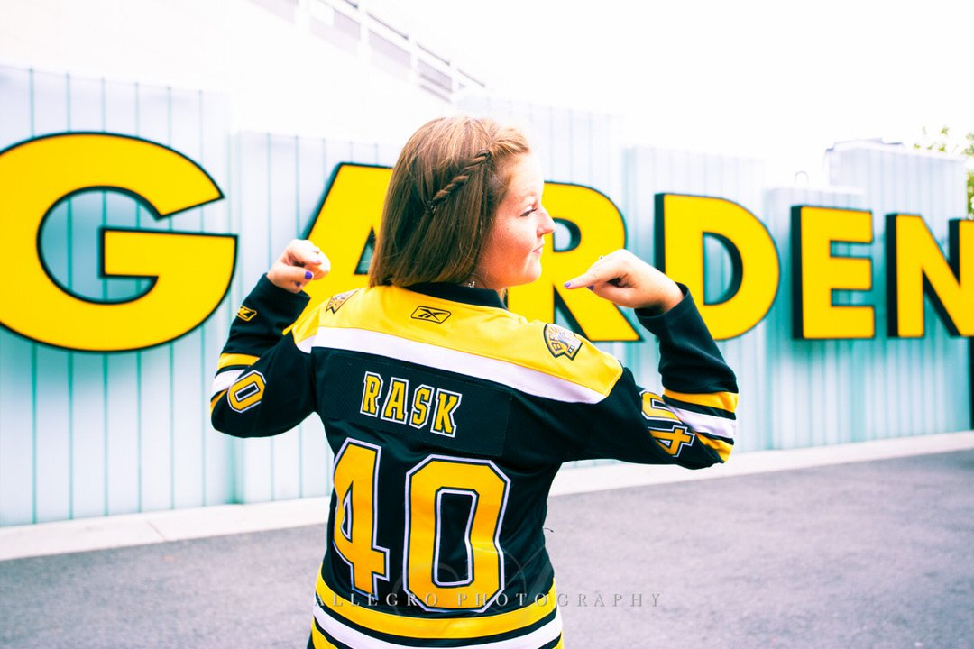Bruins Senior Photo by Wellesley Senior Photographer Allegro Photography