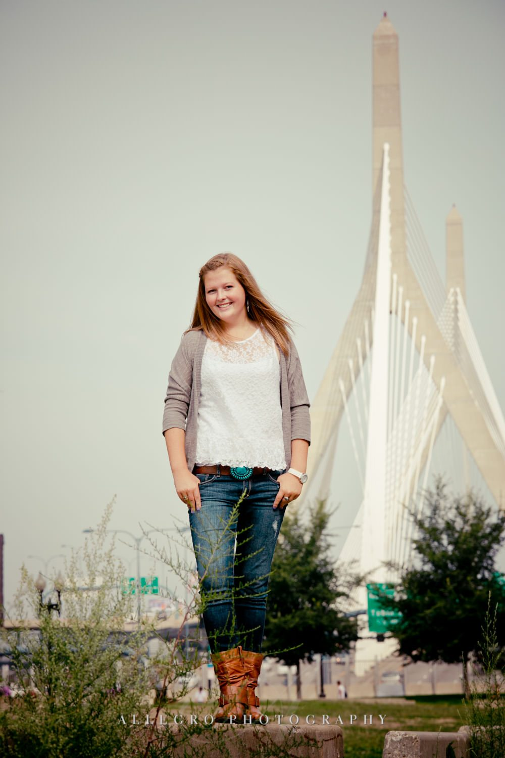 Wellesley Senior Pix Allegro Photography- Zakim Bridge