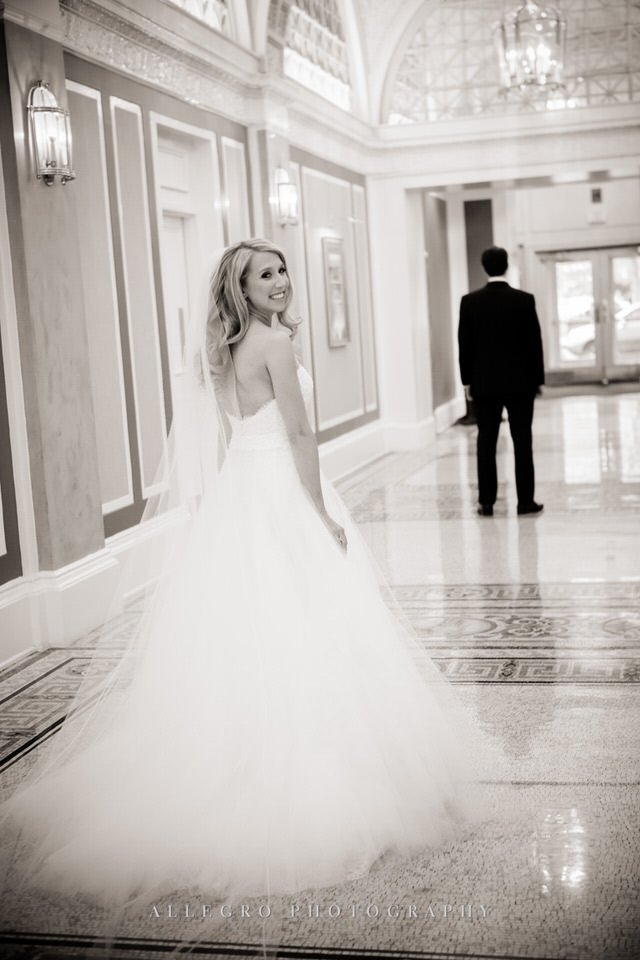 first look - fairmont copley plaza wedding photo by Allegro Photography