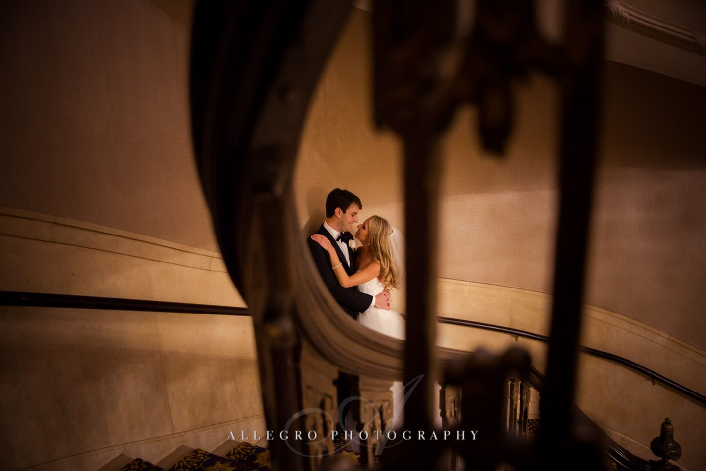 bride and groom portraits - fairmont copley plaza wedding photo by Allegro Photography