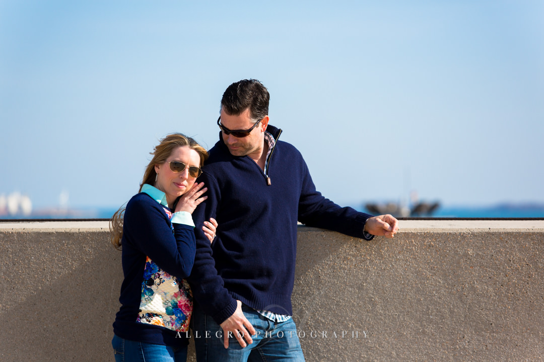 boston airport engagement photo - photo by allegro photography