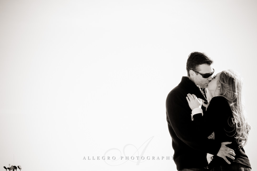 boston airport engagement session - photo by allegro photography