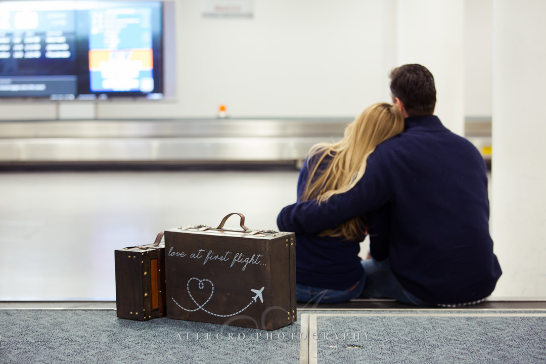 airport inspired engagement photo - photo by allegro photography