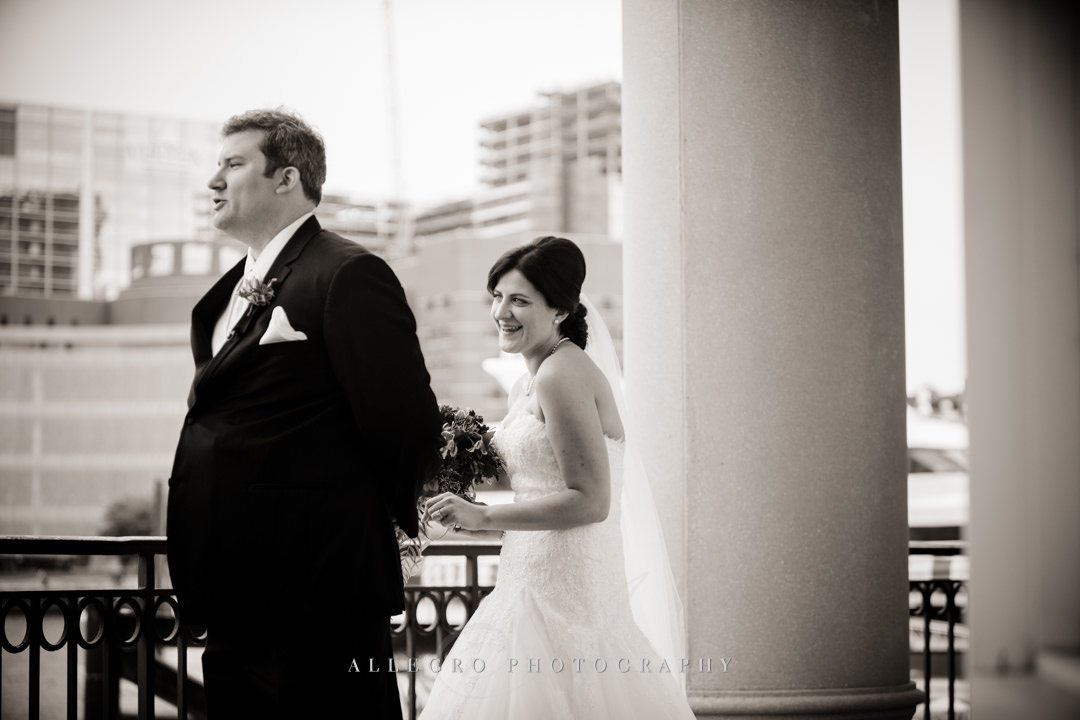 Boston Wedding First Look - photo by allegro photography