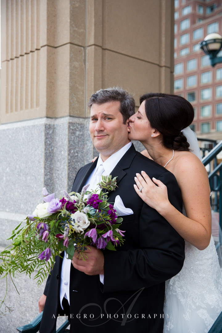 boston bride and groom - photo by allegro photography